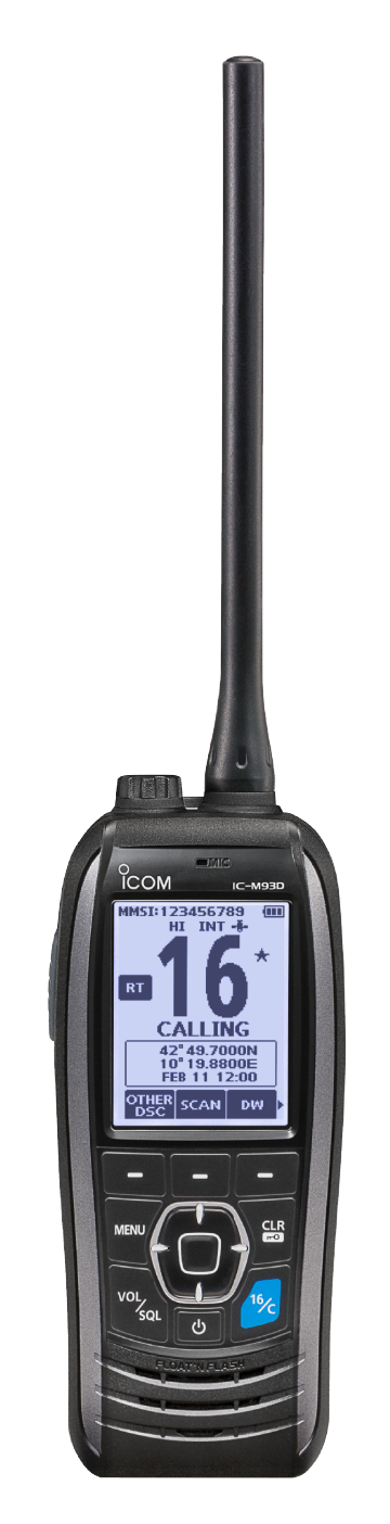 ICOM IC-M93D EURO Buoyant VHF Marine Radio with DSC